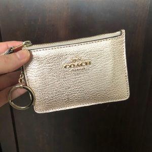 COACH Metallic Mini Skinny ID Case w/ box